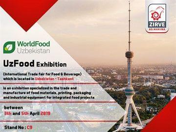 دعوة لحضور فعاليات مشاركتنا في معرض UZFOOD
